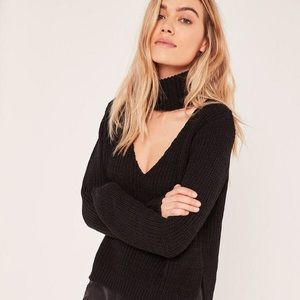 Missguided Side Roll Neck Jumper